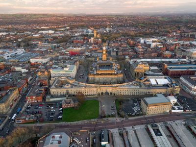 Aerial image of Bolton Town Centre
