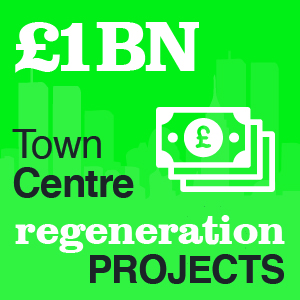 £1 billion town centre regeneration projects